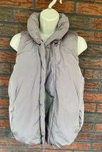 Gap Sleeveless Puffer Vest Small Fleece Lined Zip Front Pockets Insulate... - $19.60