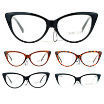 SA106 Womens Classic Gothic High Point Cat Clear Lens Eye Glasses - $9.95