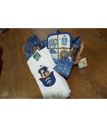 Breadbasket Potholder Towels Handmade Handsewn Breadcloth Debbie Mumm Ar... - $20.00