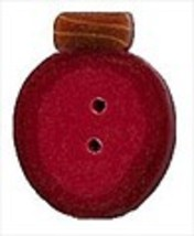 "Large Dk Red Old Fashioned Bulb 4427L button 1"" JABC Just Another Button Co - $2.00"