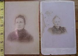 Cabinet Card Lot (2) Older Ladies Vignettes! c.1866-80 - $4.00