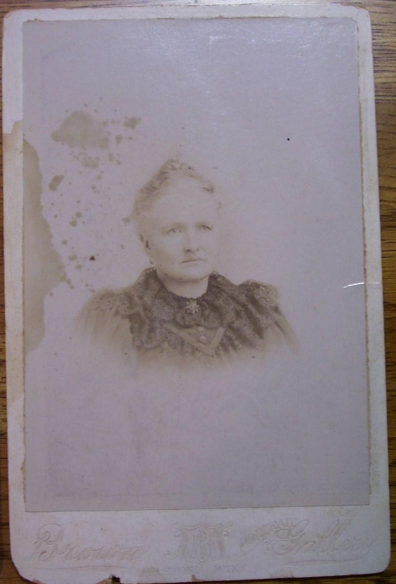 Cabinet Card Lot (2) Older Ladies Vignettes! c.1866-80