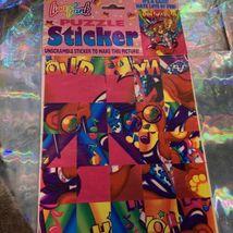 Vintage Lisa Frank JUMBO Puzzle Sticker Sheet SEALED Hollywood Bear RARE HTF image 3