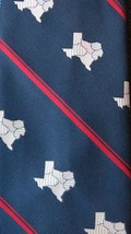 Vintage 70's Pierre Cardin 'STATE OF TEXAS' Tie - w/tag - never worn - $49.50