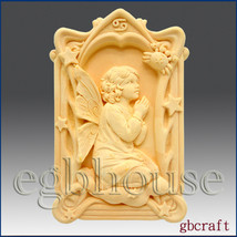 2D Cancer Pray Angel of Compassion Silicone Mold  - $32.00