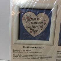"Learn By Heart Cross Stitch Kit Creative Circle 1643 5"" x 5"" - $9.74"