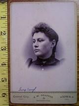 Cabinet Card Photo Pretty Lady Vignette Style Named Iowa! C.1866 80 - $6.99