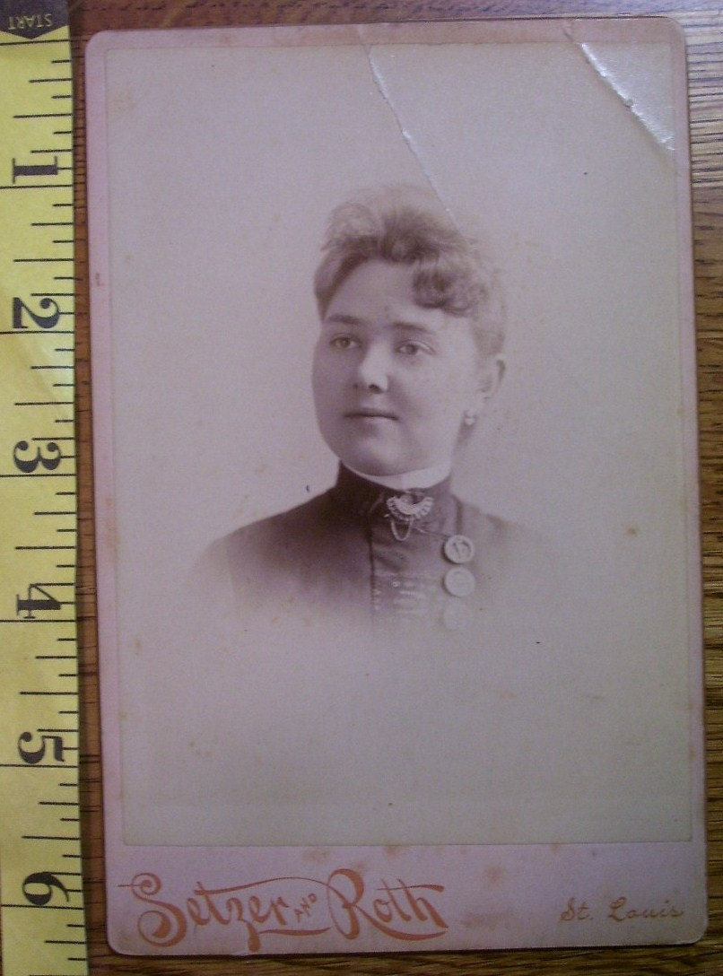 Primary image for Cabinet Card Pretty Lady Buttons Vignette! c.1866-80