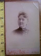 Cabinet Card Pretty Lady Buttons Vignette! c.1866-80 - $4.00