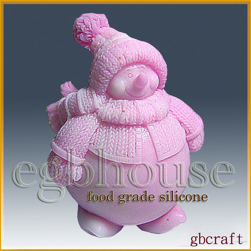 3D Food Grade Silicone Mold – Chubby the Snowman