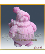3D Food Grade Silicone Mold – Chubby the Snowman - $76.00