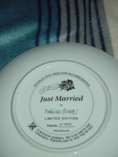 FRANKIN MINT JUST MARRIED COLLECTION PLATE