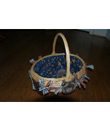 Cat Kitty Toy Treat Basket Fabric Lined OOAK  - $10.00