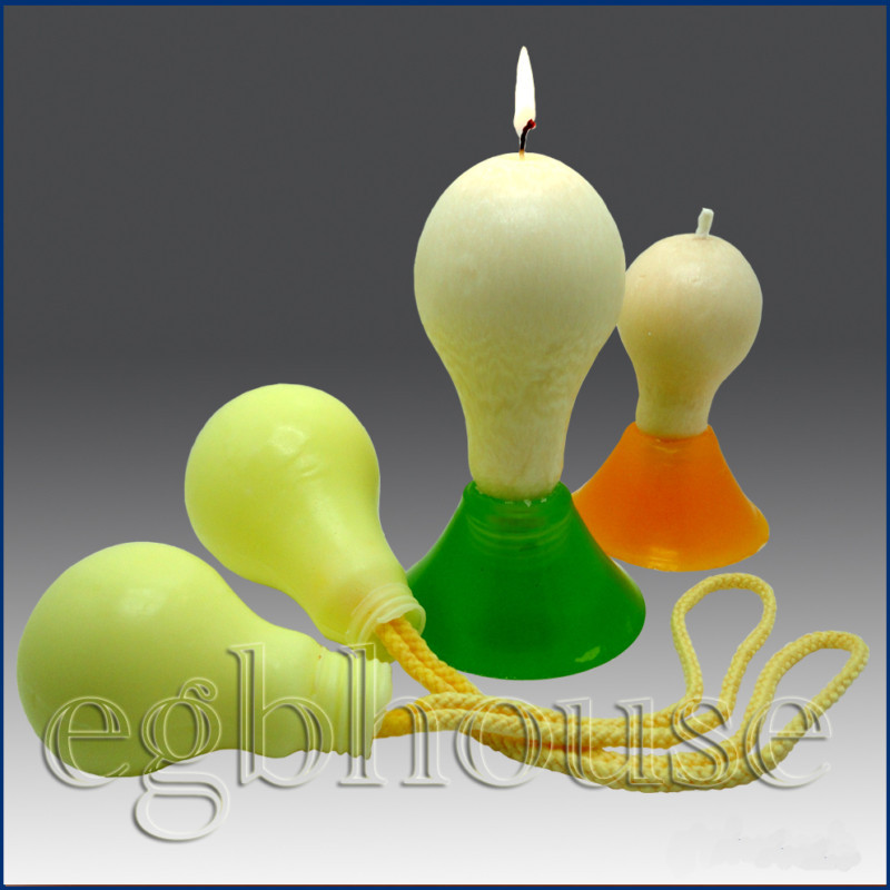 3D Silicone Soap / Candle Mold - light Bulb -size small