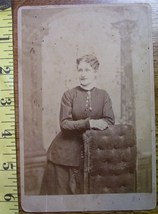 Cabinet Card Pretty Wavy Hair Lady Cameo! c.1866-80 - $4.80
