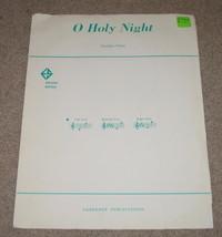 O Holy Night Sheet Music - 1963 - Adolphe Adam - $8.25
