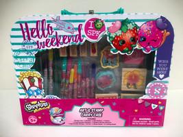 Shopkins Strawberry & Donut Art & Stamp Fun Activity Carry Case Set - $19.79