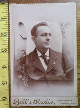 Cabinet Card Handsome Man in Scroll Overlay! c.1866-80 - $4.80