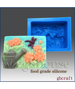 Daisies, Dragonfly, Watering Can- 2D Food Silicone Mold - $30.00