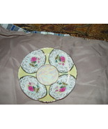 CASTLE CHINA HAND PAINTED SAUCER GOLD TRIM - $10.50