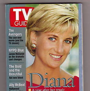 TV Guide -- Aug. 15 -21, 1998 -- Diana, 1 Year After Her Tra
