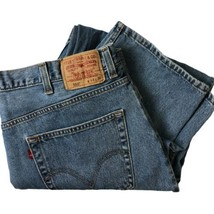 Mens Levi's 550 Relaxed Fit Straight Medium Blue Denim Jeans Size 44 x 32 - $39.60