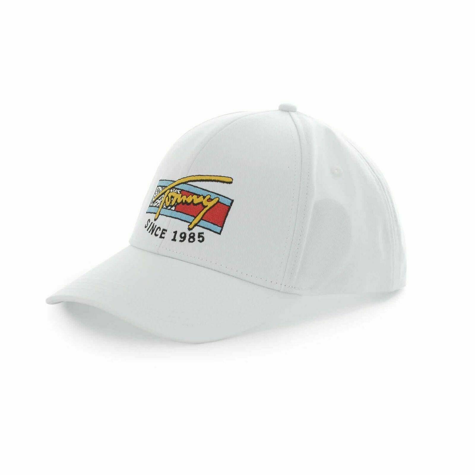 NWT Tommy Hilfiger 1985 Monogram White Hat Snapback One Size