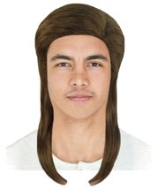 70s Disco Mullet Wig   Brown Vintage Wigs   Premium Breathable Capless Cap - $31.85