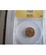 1940 , Lincoln Penny , ANACS , AU 50 , Cleaned - $14.00