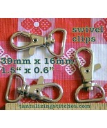 600 Nickel 1.5 Inch Swivel Clips with 0.6 inch D Ring - $230.78