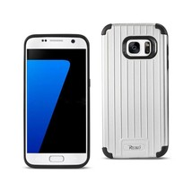 REIKO SAMSUNG GALAXY S7 RUGGED METAL TEXTURE HYBRID CASE WITH RIDGED BAC... - $9.90