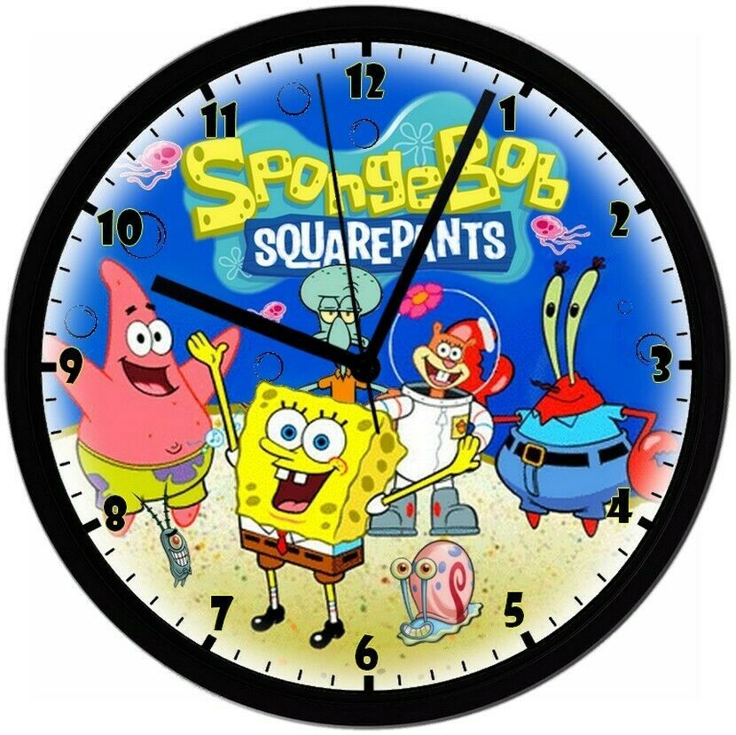 Primary image for Exclusive! Sponge Bob SquarePants 8in. Unique Homemade Wall Clock w/ Battery