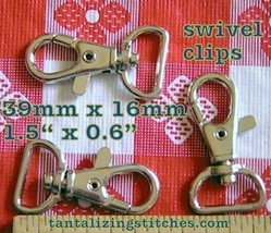 5 Nickel 1.5 Inch Swivel Clips with 0.6 inch D Ring - $3.91