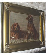 1893 Bell-Cap-Sic Print-Pair of Red Irish Setter Dogs - $155.00