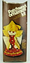 Vintage 70's Patchwork Ornament Craft Kit Angel 8009 Christmas Country Fair - $5.77