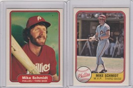 1981 1982 Fleer #5 #258 Mike Schmidt Phillies - $1.33