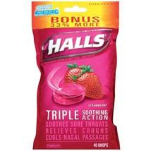 Halls Cough Drops Strawberry Bonus Size 40 Count - $5.95