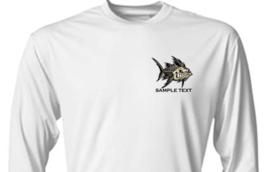 6 Personalized Custom Front & Back Printed Dri Fit Longsleeve Fishing Sun Shirt image 3