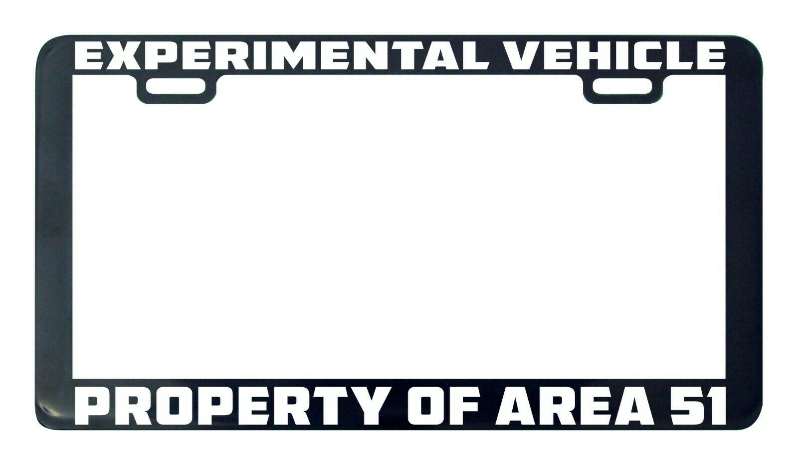 Primary image for Experimental vehicle property of area 51 UFO Alien license plate frame holder