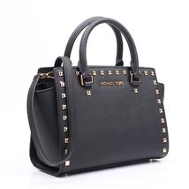 Auth Michael Kors Selma Medium Saffiano Leather Studded Satchel Handbag ... - $215.00