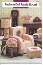 Family Room Plastic Canvas Patterns~Fit Barbie Fashion Dolls - $24.99