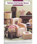 Family Room Plastic Canvas Patterns~Fit Barbie Fashion Dolls - $24.99