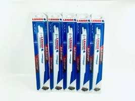"Lenox 9"" x 6TPI Nail Embedded Wood Sharp Reciprocating Saw Blade Lot of 5 - $29.99"
