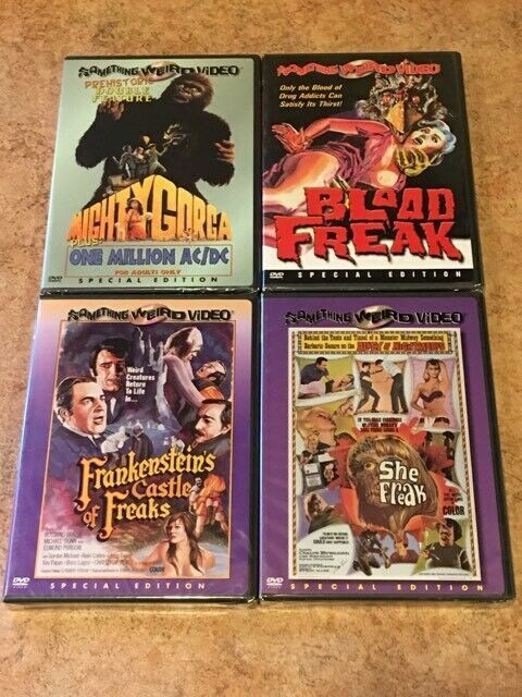 5 NEW Something Weird Films! 5 DVD Lot: Mighty Gorga, Blood Freak, Castle, She F image 1