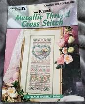 Leisure Arts Metallic Thread Cross Stitch Booklet 2943 - $23.35