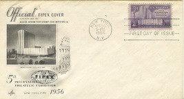 FIPEX Philatelic Exhibition First Day Cover 1956 Cachet - $2.99