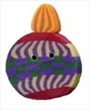 "Checkered Ornament 4453 handmade clay button .5"" JABC Just Another Butto... - $1.60"