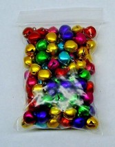 Lot 1,000 Jingle Bells ~ Mixed Jewel Tones Christmas Colors Beads Charms 10-12mm - $28.70