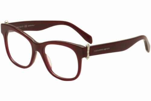 Alexander Mcqueen Damen Brille AM0005O 004 Rot Brillengestell 51mm