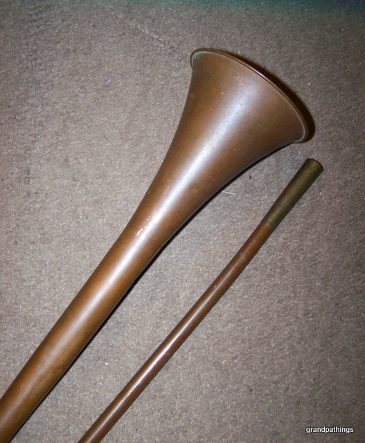 Antique copper and brass Fox hunting horn